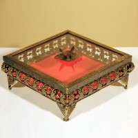 Iranian's  Antique belly square chocolate